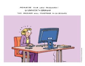 Moeilijke wachtwoorden onthouden